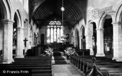 Mayfield, St Dunstan's Church Interior c.1960