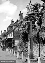 Mayfield, The Village Sign c.1955