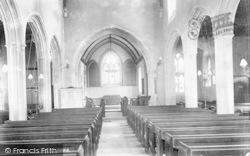 St Mary's Church Interior 1904, Meare