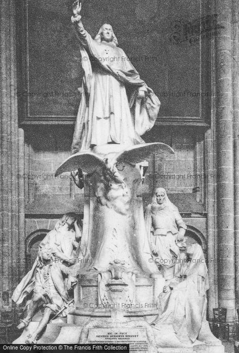 Photo of Meaux, Cathedral, Statue Of Jacques Bénigne Bossuet c.1935