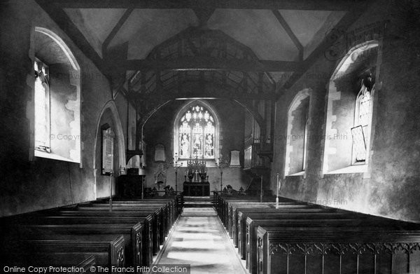 Medmenham, the Church of St Peter and St Paul, the interior 1890