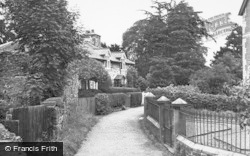 Meifod, Church Walk c.1955