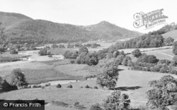 Meifod, River Vyrnwy And Maen Hill c.1955
