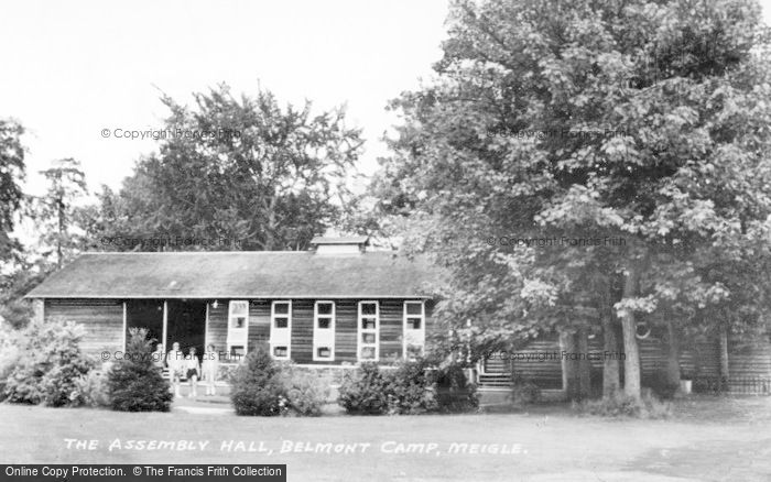 Photo of Meigle, The Assembly Hall, Belmont Camp c.1955