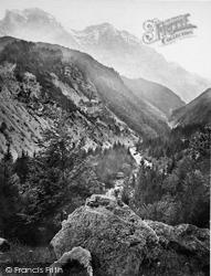 Meiringen, View In The Hasli Valley c.1860