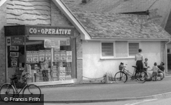 A Family By The Co-Operative Store c.1960, Melbourn