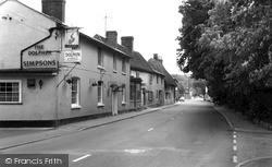 Melbourn, High Street c.1960