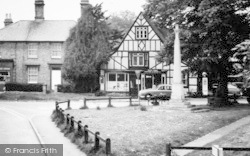 Melbourn, Station Road, South Cambs Motors And War Memorial c.1965