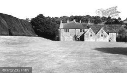 Melcombe Bingham, The Manor, Bowling Green And Yew Hedge c.1955