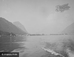 And Monte San Salvatore From Lugano Lake c.1935, Melide