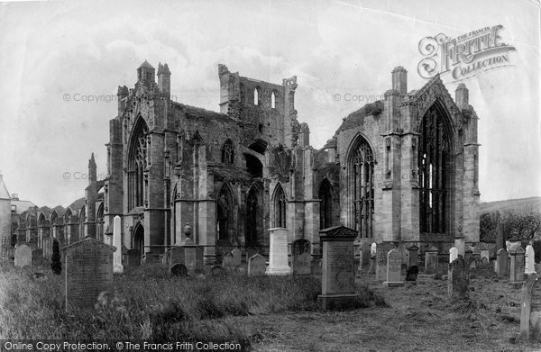 Photo of Melrose, Abbey 1897