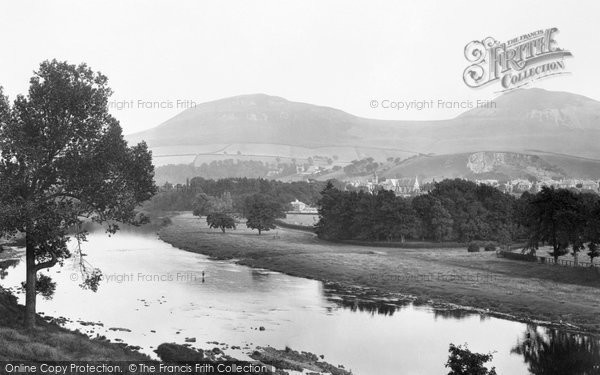 Photo of Melrose, From River Tweed 1901