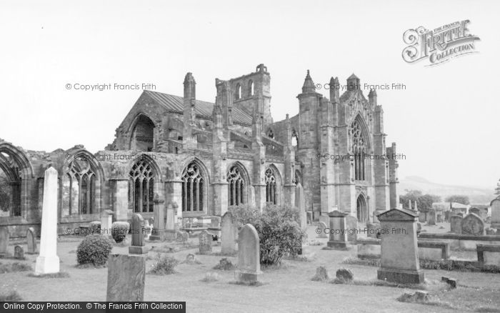 Melrose, The Abbey c.1955