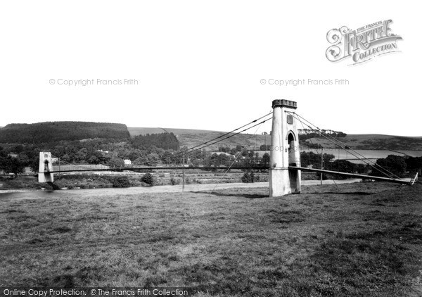 Photo of Melrose, the Suspension Bridge c1960, ref. M58020