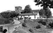 Melsonby, Bridge and Church of St James the Great c1960