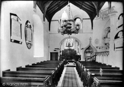 Melton Constable, The Church Interior 1922