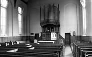 Melton Mowbray, the Baptist Church interior c1955