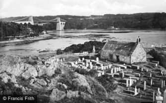 Menai Bridge, and Llandysilio c1880
