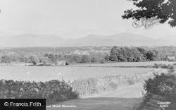 Menai Bridge, And Welsh Mountains c.1955
