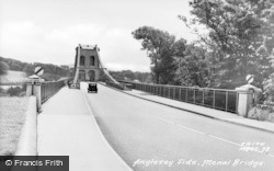 Menai Bridge, Anglesey Side c.1955
