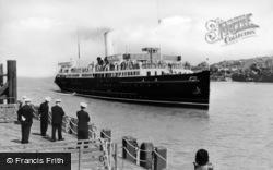 Menai Bridge, Arrival Of Steamer c.1950