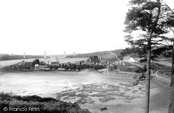 Menai Bridge, Britannia Bridge And Llandisilio Church 1894
