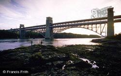 Britannia Bridge c.1985, Menai Bridge
