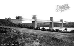 Menai Bridge, Britannia Bridge From Anglesey 1890