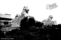 Menai Bridge, Britannia Bridge Lions 1890