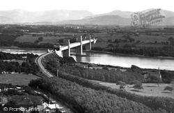Menai Bridge, Britannia Tubular Bridge From Anglesey Column c.1870