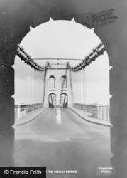 Menai Bridge, Entrance To Bridge c.1955