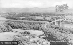 Menai Bridge, General View c.1950
