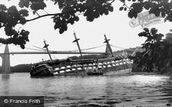 Menai Bridge, HMS Conway And Menai Bridge 1953