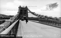 Menai Bridge, Menai Bridge, Anglesey Side c.1955