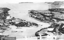 Menai Bridge, Menai Straits Showing Menai Bridge c.1955