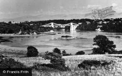 Menai Bridge, Menai Suspension Bridge c.1950