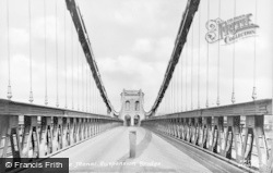Menai Bridge, On The Suspension Bridge c.1950