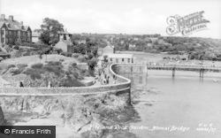 Menai Bridge, Pier And Rock Garden c.1955