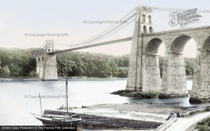 Photo of Menai Bridge, Suspension Bridge 1890