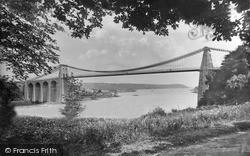 Menai Bridge, Suspension Bridge c.1870