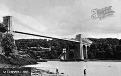 Suspension Bridge c.1913, Menai Bridge