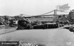 Menai Bridge, The Bowling Green c.1955