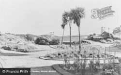 Menai Bridge, The Bowling Green Gardens c.1955