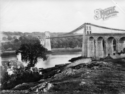 Menai Bridge, The Bridge c.1868