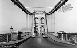 Menai Bridge, The Entrance To The Bridge c.1955