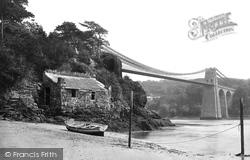 Menai Bridge, The Suspension Bridge 1890