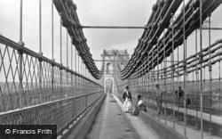 Menai Bridge, The Suspension Bridge c.1870
