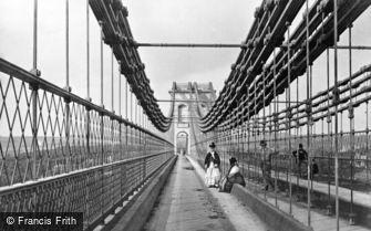 Menai Bridge, the Suspension Bridge c1870