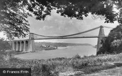 The Suspension Bridge c.1880, Menai Bridge