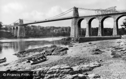 Menai Bridge, The Suspension Bridge c.1950